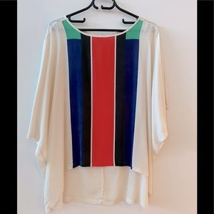 Country Road High/Low Silk Blouse